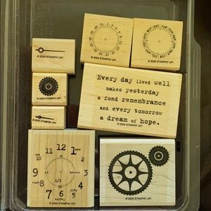 """2005 Stampin' Up! """"It's About Time"""" 8 pc set"""